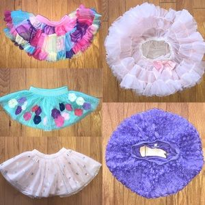 Lot Bundle of 9 mo Baby Girl Tulle Skirts and Tutu